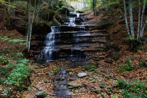 Le tre cascate nei pressi di Badia Prataglia (AR).